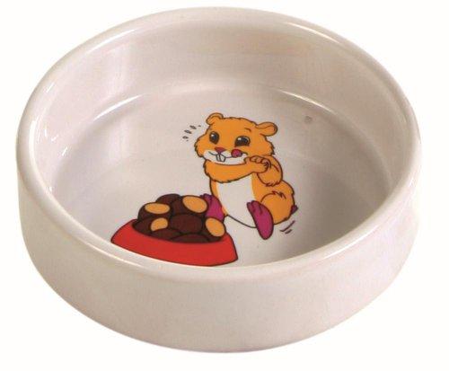 Trixie 6062 Keramiknapf mit Motiv, Hamster, 90 ml/ø 8 cm