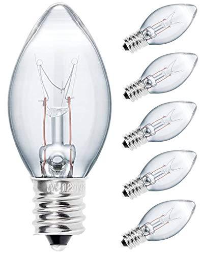 OHLGT Salt Lamp Light Bulbs 15 Watt, Himalayan Salt Lamp Original Replacement Bulbs E12 Socket Long Lasting Incandescent Bulbs -6 Pack (15 Watt 6 Pack)
