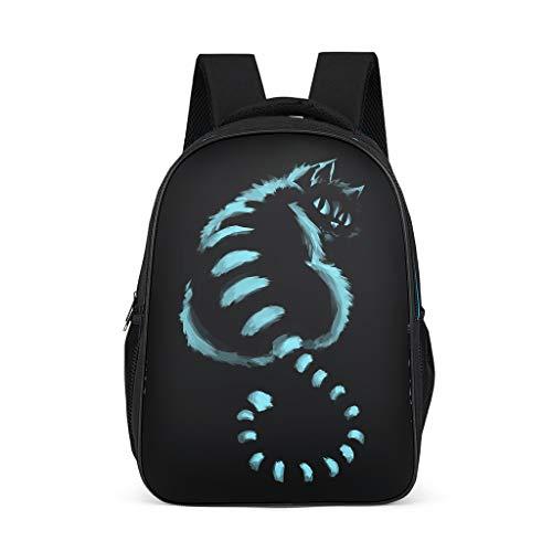 Xuanwuyi Cheshire Cat Casual Mochila de estudiante - Gato de dibujos animados impermeable Preppy Schoolbag mochila mochila para portátil escolar mochila niños diario