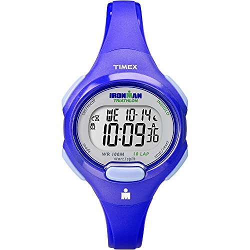 TIMEX Ironman 10-Lap Reloj de tamaño mediano, azul, talla única