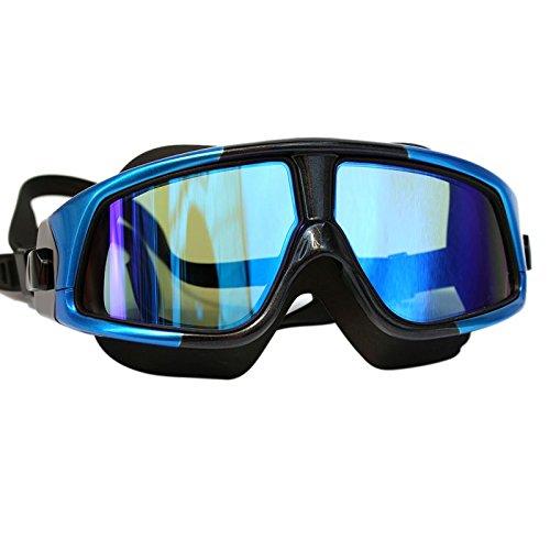 LCBYOG Natación Gafas de Silicona Gafas natación Gafas de natación Anti-Niebla Impermeable UV con Estuche Gafas De NatacióN (Color : ZYL)