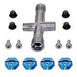 Godyluck- 4PCS Aluminio 12mm Hub Hex Acoplador Rueda Hex Compatible con Traxxas 1/10 Stampede Slash...