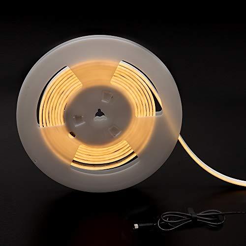 DANCRA LED Neon Lichtschlauch 5M 24V DC ultradünne 4mm flexible Biegung super leicht kein Blenden warmweiß wasserdicht IP67 LED Streifen für Garten Zaun Pavillon Weg Balkon Schwimmbad Dekoration