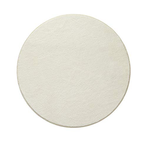 KAISUN Alfombra redonda, antideslizante, para comedor, hogar, dormitorio, protección mullida, apta para alérgicos, color crema, 160 x 160 cm