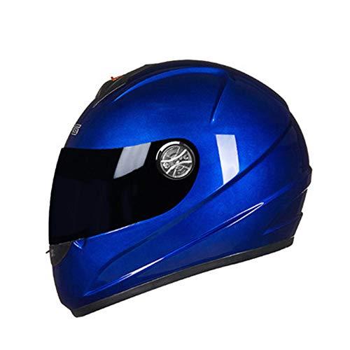 AjACD Full Face motorhelm, gemakkelijk aangebouwd vizier veiligheidsbescherming fietshelm met reservevoering, CE-gecertificeerd voor multi-sport