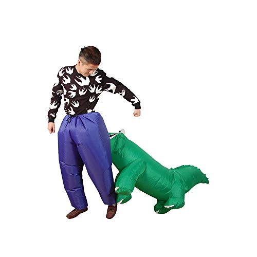 Aufblasbares Kostüm Krokodil | Ausgefallenes Auflbaskostüm | Premium Qualität | Größe Erwachsene | Polyester | Angenehm tragbar | Resistent | Mit Aufblassystem | Von OriginalCup®
