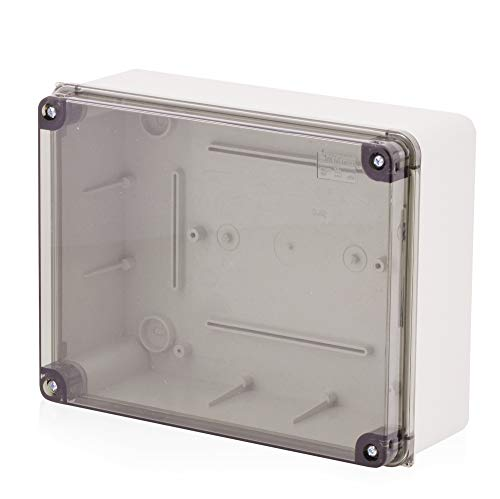 Scatola di montaggio a parete, scatola di derivazione Scatola di plastica con vite   240x190x90mm   IP65   coperchio trasparente Scatola di distribuzione Scatola di distribuzione Scatola vuota Scatola industriale, scatola di derivazione, armadio elettrico