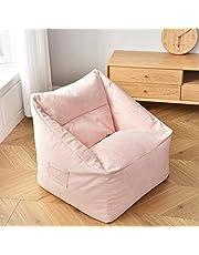 DTLEO Puff Funda de Bean Bag Cubierta para Sofá Perezoso Puf Puff de Color Liso Exterior e Interior Tumbona Perezosa para Adultos y Niños sin Relleno,Rosado