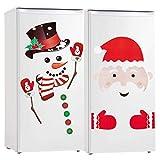 Christmas Refrigerator Decorations Reflective Santa Claus Snowman Magnets Xmas Holiday Garage Fridge Kitchen Cute Funny Decor