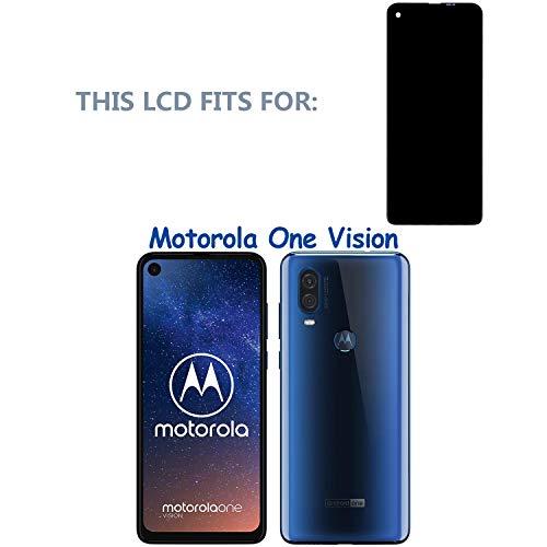 swark LCD Display Kompatibel mit Motorola One Vision XT1970-1/Motorola One Action XT2013-1, XT2013-2 (Schwarz Ohne Rahmen) LCD Display Touchscreen + Tools