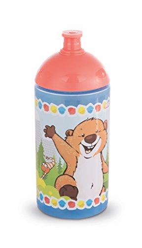 NICI 41871 Forest Friends Trinkflasche mit Murmeltier und Eichhörnchen, 19.5 cm