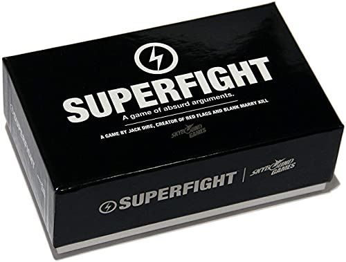 Superfight a Card Game of Absurd Arguments | Fun Family Friendly, Party Game of Super Powers and Super Problems, Enjoyed by Kids, Teens, and Adults, 500-card Deck, 3 or More Players, Ages 8+