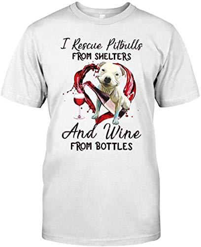 KK-TSHIRT Interesante Hombres T-Shirt Pitbull and Wine Gift for Dog Lover Custom T-Shirt tee