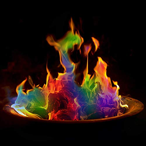 Pack of 8 Magic Neon Flames Fire Colourant Mystical Colour Changing Flame