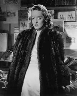 Bette Davis in Dark Victory in fur coat and glamorous dress 11x14 HD Aluminum Wall Art