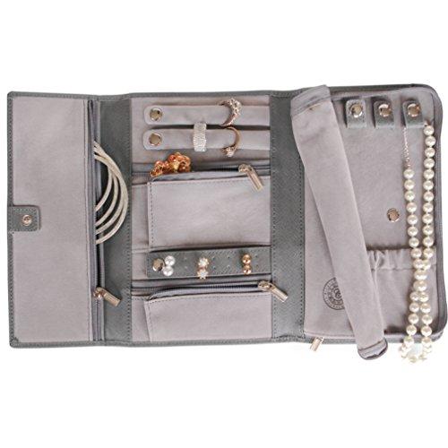 Saffiano Leather Travel Jewelry Case - Jewelry Organizer [Petite] by Case Elegance
