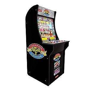 ARCADE1UP Retro Arcade Machine Spielautomat (Capcom Super Street Fighter II, 1.20m hoch, 17 Zoll Full Color High Resolution Display, Sound, original Joystick und Steuertasten)