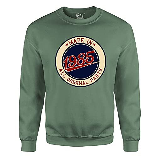 Made in All Original Parts 1985 Aged to Perfection 36th Birthday Gift Mens Sweatshirt Gift for Him