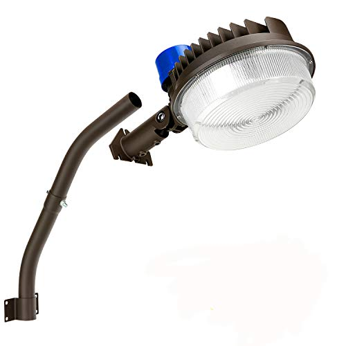 120W LED Barn Light 18000LM Dusk to Dawn 5000K Daylight Adjustable Angle Yard Light with Photocell IP65 Waterproof for Outdoor Security/Area Light