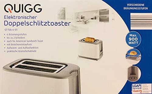Tostapane a doppia fessura/max. 900 W, 6 livelli di doratura, fino a 2 dischi, centratura automatica 2 Scheiben bianco/grigio