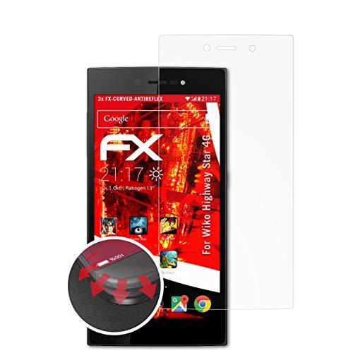 atFolix Schutzfolie kompatibel mit Wiko Highway Star 4G Folie, entspiegelnde & Flexible FX Bildschirmschutzfolie (3X)