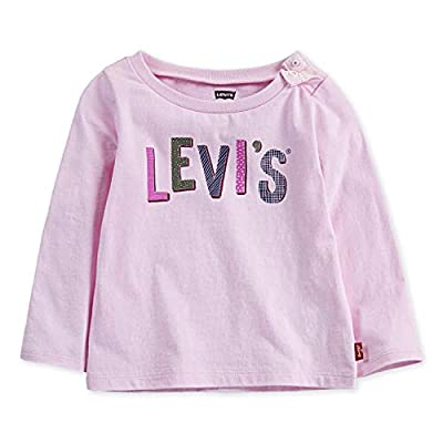 Levi's Baby Girls Long Sleeve Graphic T-Shirt, Pink Lady, 9M