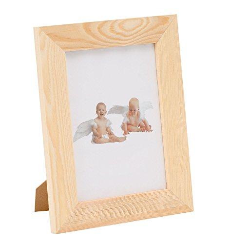 GLOREX 6 1683 402 - Bilderrahmen aus Kiefernholz, mit Glasscheibe, ca. 17,5 x 22,5 x 3 cm groß, FSC Mix, Rahmen kann individuell verziert und gestaltet werden