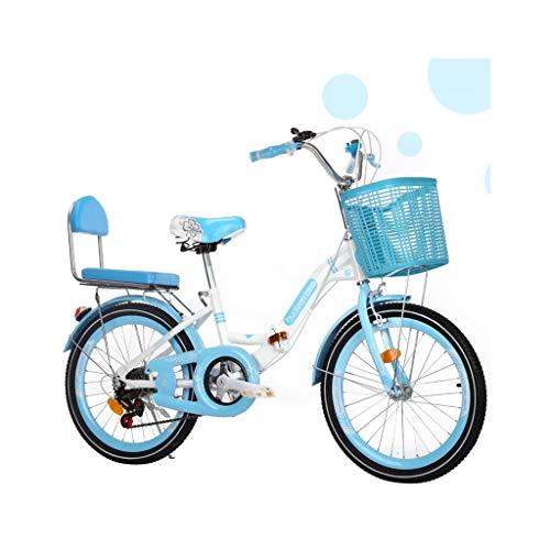 Bike 20/22 Zoll mit Stützrad Kinderfahrrad mit Ständern Junge Mädchen Fahrrad/pink, blau (Color : 2, Size : 22in)