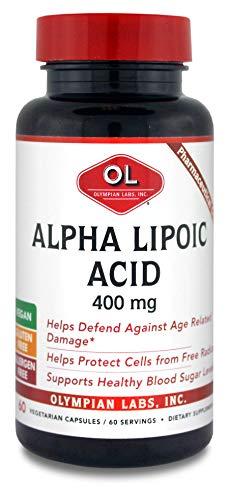 Olympian Labs Alpha Lipoic Acid 400mg, 60 Capsules (Pack of 1)