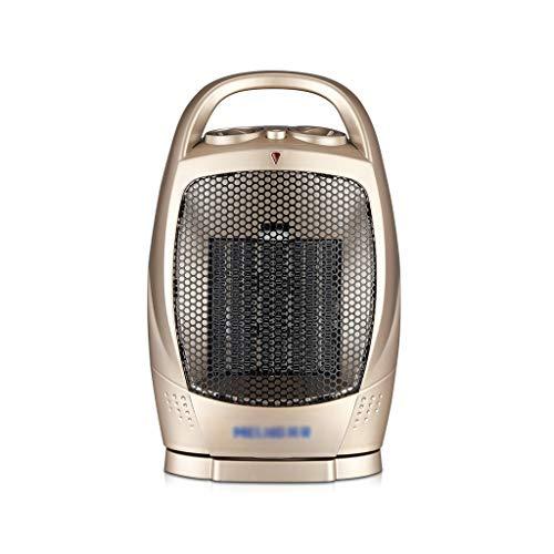 AMBH-Heater Mini-radiator, isolerende kop, drietraps instelling, champagnegoud, NQ11/5