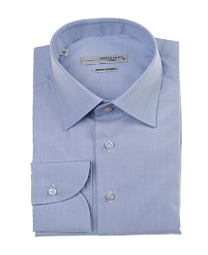 Artigiano Herren Hemd Business Shirt mit Langarm Long Sleeve NOS Orlando Modell: 10124.339 Farbe: hellblau Größen: 39 40 41 42 43 44 (42)