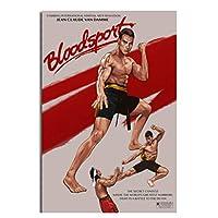 Suuyar Bloodsport1988クラシック映画フィルムヴィンテージ絵画ポスタープリントキャンバスの壁の写真ホームルームの装飾-50X70Cmフレームなし