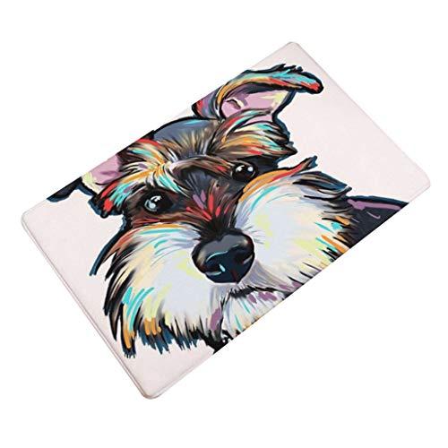 Eastery deurmat, antislip, kleurrijk, met Sweet Dog Wheal 40 x 60 cm, eenvoudige stijl, 50 x 80 cm, voor binnen en buiten, geschikt als cadeau, geschikt voor 1# 40 x 60 cm