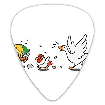 Goose Zelda Patterned Guitar Picks  12-Pack  Assorted For Acoustic Electric Guitars Three Different Unique Sound Qualities Provide You With A Different Experience