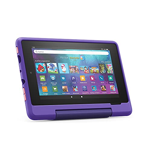 "Fire 7 Kids Pro-Tablet   Ab dem Grundschulalter   17,8 cm großer Bildschirm (7 Zoll), 16 GB, kindgerechte Hülle mit ""Graffiti""-Design"