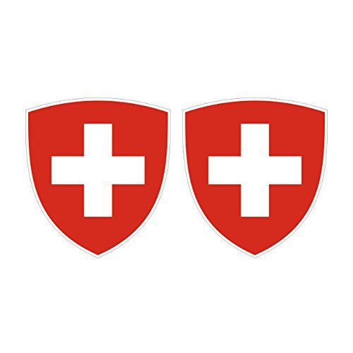 Two Pack Swiss Coat of Arms Sticker…