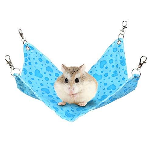 Rat Hangmatten Kat Hangmat Cavia Hangmat Hamster Hangmat Rat Hangmatten Voor Kooi Konijn Bedden Voor Binnenshuis Rat Kooi Accessoires blue,s