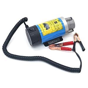 NUZAMAS Bomba de transferencia de aceite de 12 V, 100 W, diésel, extractor de fluidos, bomba de transferencia de agua, para coche, motocicleta y barco, herramienta de eliminación de cambio de aceite