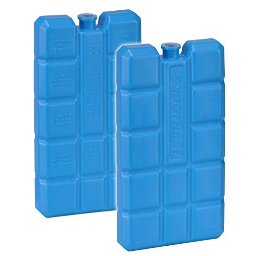 Juego de 2 acumuladores de frío de 200 g, color azul, 15 x 8 x 2 cm, para nevera