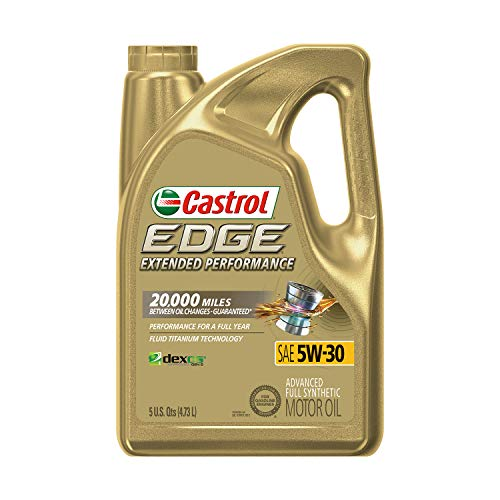 Castrol 1597B1 Edge Extended Performance 5W-30 Advanced Full Synthetic Motor Oil, 5 Quart