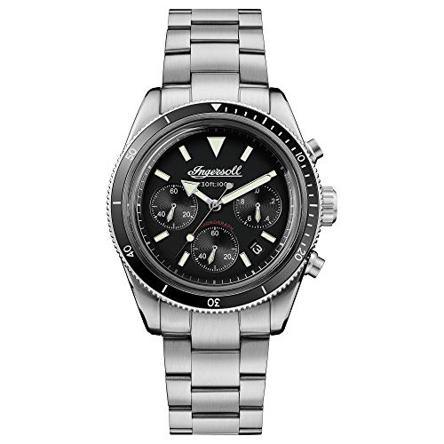 Ingersoll The Scovill Gents Quartz Chronograph Watch I06201 with a Stainless steel case and stainless steel bracelet