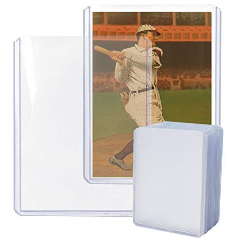 Topload-Kartenhalter, Toploader, Sammelkartenhüllen für Baseball, Fußball, Basketball, Hockey, Golf, 7,6 x 10,2 cm, transparent