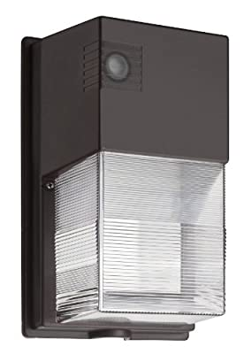 Lithonia Lighting OLWP LED P1 40K 120 PE BZ M4 23W Dusk to Dawn Integrated Outdoor LED Wall Pack, Bronze