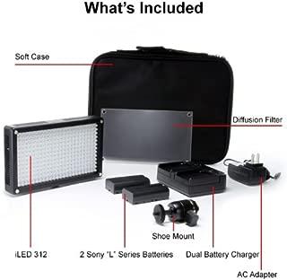 iKan Corporation 312 Bulb On-Camera Bi-Color LED Light Black, (iLED312)