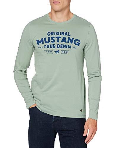 Mustang Anton C Print Camiseta, Cal, XL para Hombre