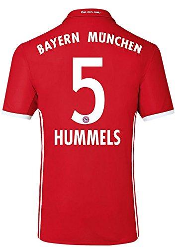 adidas Trikot FC Bayern München 2016-2017 Home (Hummels 5, Medium Boys 28-30
