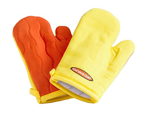 Curious Chef Children's Chef Oven Mitt Set