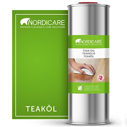 Nordicare Teaköl [1L] farblos für den Innen-Bereich I Teak Holz Öl zur Teaköl Pflege I Teak Holzöl, Teakholzöl, Holzpflegeöl