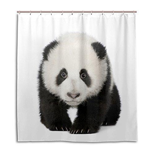 My Daily Liebenswürdig, Giant Panda Duschvorhang 167,6x 182,9cm, schimmelresistent und Wasserdicht Polyester Dekoration Badezimmer Vorhang