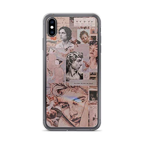 Merasri Compatible with iPhone XR Case Abstract Roman Arts Collage Aesthetic Edited Photo Pure Clear Phone Cases Cover